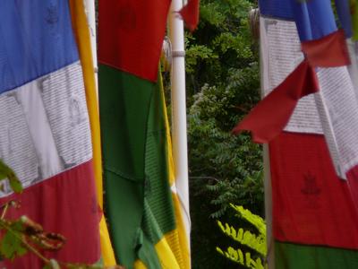 Drapeau de prieres maison d'Alexandra David-Néel à Digne-les-Bains