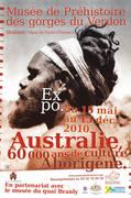Affiche de l'exposition Australie 60 000 ans de culture arborigène