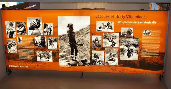 Un des nombreux panneaux de l'exposition Australie 60 000 ans de culture aborigène