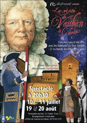Affiche du spectacle La visite de Vauban à Colmars