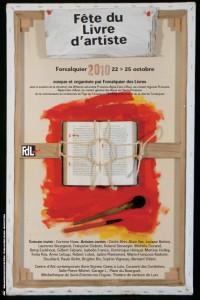 affiche Fête du livre d'artiste Forcalquier 2010