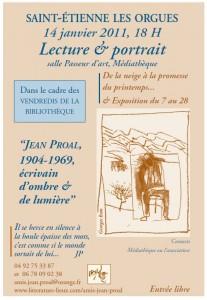 Exposition écrivain Jean Proal