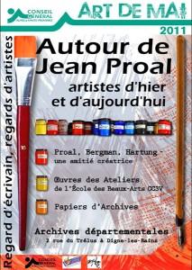 Affiche de l'exposition Jean Proal aux archives départementales à Digne les Bains
