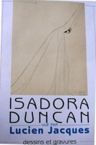 Affiche de l'exposition Isadora Duncan Lucien Jacques