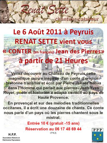 Affiche Renat Sette conte Jean des Pierres à Peyruis