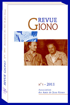 Couverture de la Revue Giono N°5 - 2011