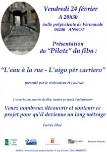 """Court-métrage """"L'eau à la rue"""" à Annot"""