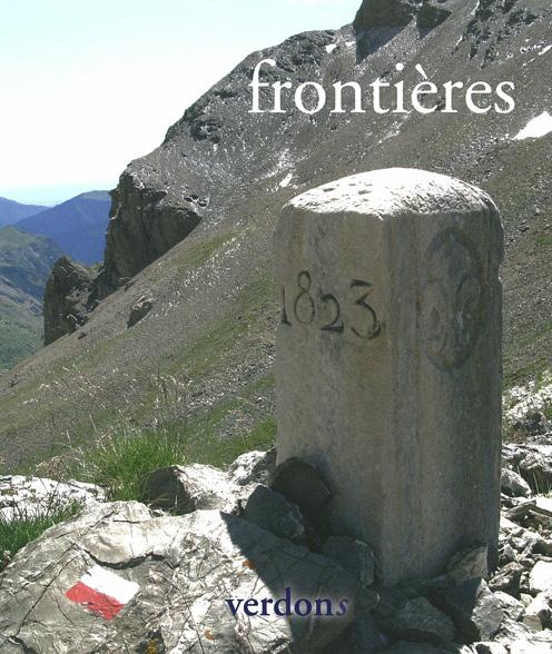 """Couverture Revue Verdons n°36 """"frontières"""""""