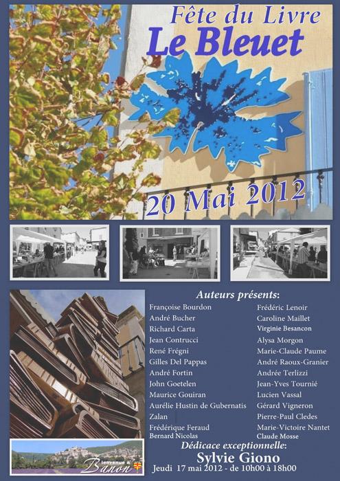 Affiche Fête du livre de Banon 2012