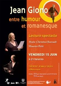 Lecture de textes par Marie-Christine Barrault et Maurice Petit à Manosque