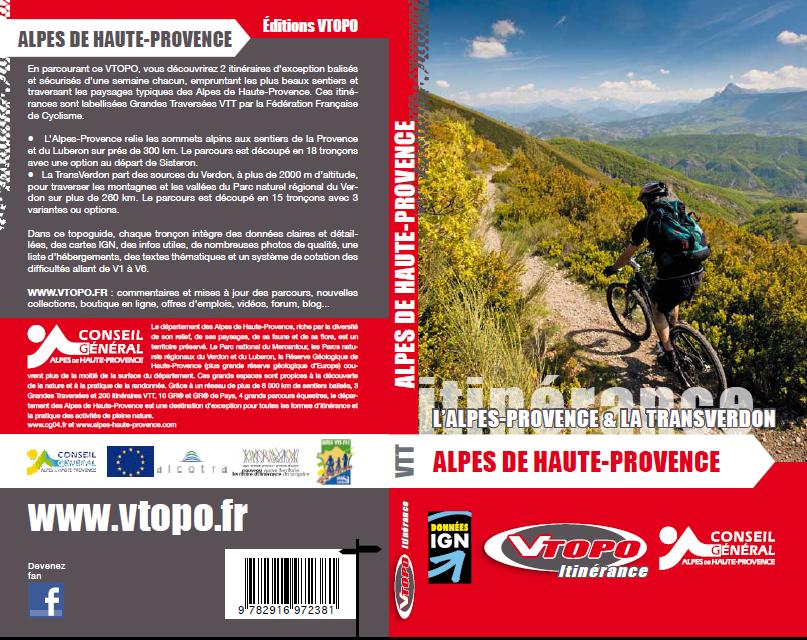 Couverture VTOPO L'Alpes-Provence et La TransVerdon