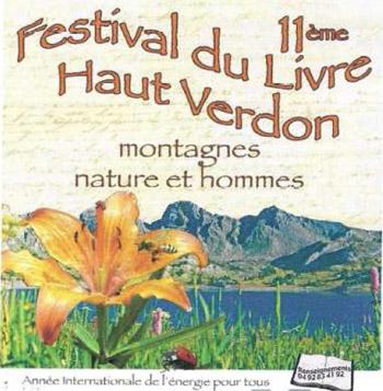 Festival du livre du Haut Verdon à Colmars les Alpes
