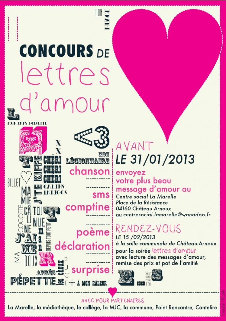 Concours de lettres d'amour - Château Arnoux