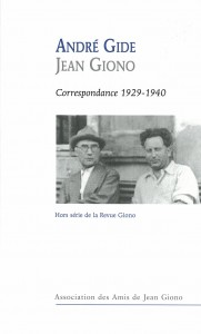 revue Giono correspondance André Gide  Jean Giono  1929 - 1940