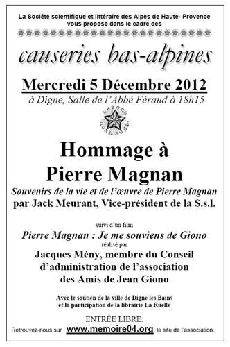 Hommage à Pierre Magnan