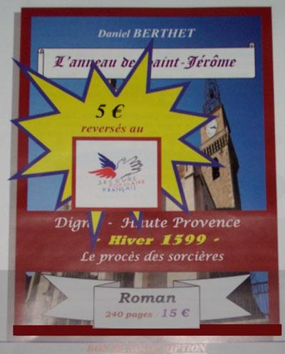 Solidarité autour du roman «L'anneau de Saint-Jérôme» de Daniel Berthet