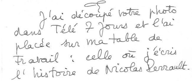 extrait de lettre de Nicole Ciravegna à Manuel Bonnet