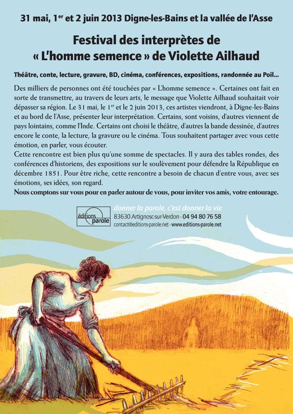 """Festival autour de """"L'homme semence"""""""