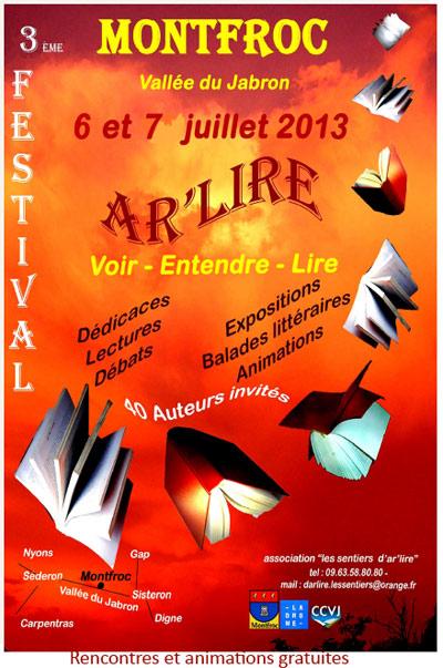Festival Ar'lire 6 et 7 juillet à Montfroc