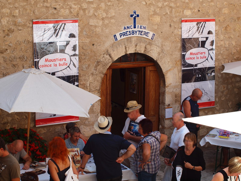 """La journée de la BD à Moustiers Sainte Marie Festival BD """"Moustiers coince la Bulle"""""""