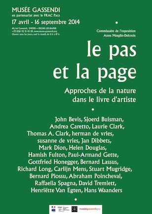 Exposition «Le pas et la page, approches de la nature dans le livre d'artiste»