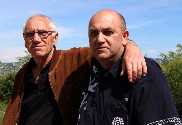Les auteurs, l'écrivain René Frégni et le photographe Jean-François Mutzig. ®Les Clichés de l'Aventure Frédéric Massé