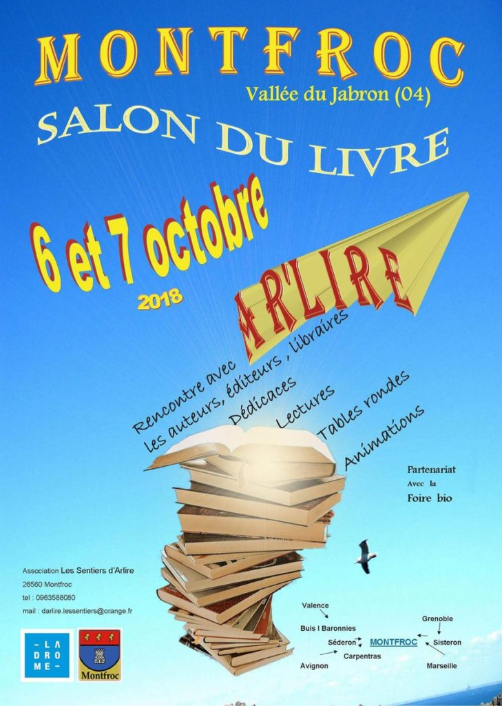 Festival AR'LIRE à Montfroc les 6 et 7 octobre 2018.