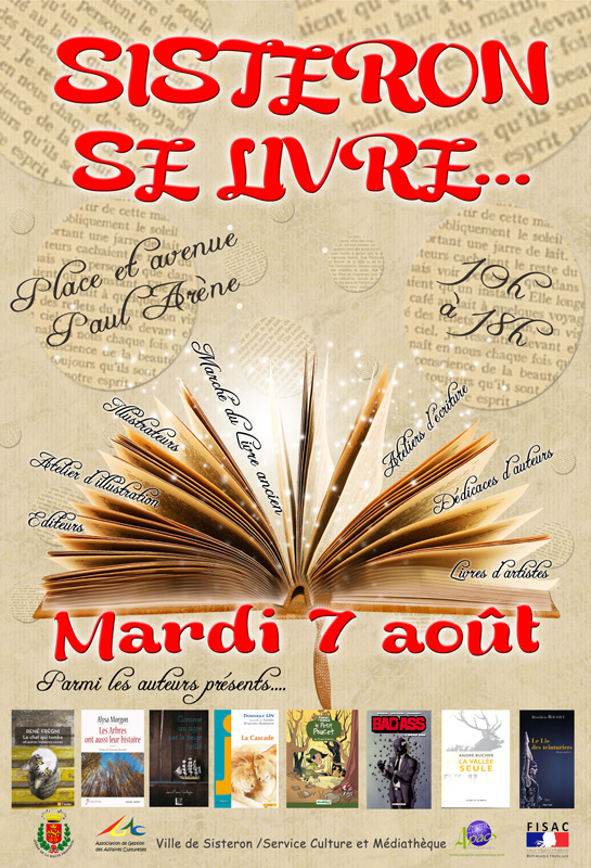 Salon du livre Sisteron se livre 2018