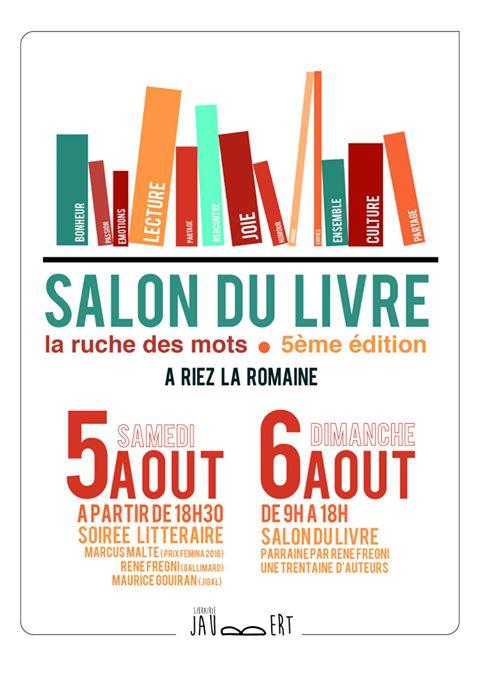 La ruche des mots salon du livre riez la romaine - Salon du livre troyes ...