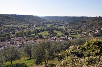 Riez vue depuis la colline St Maxime Riez