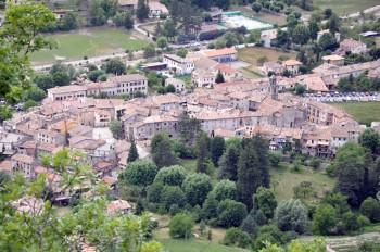 Village d'Annot vue des grès