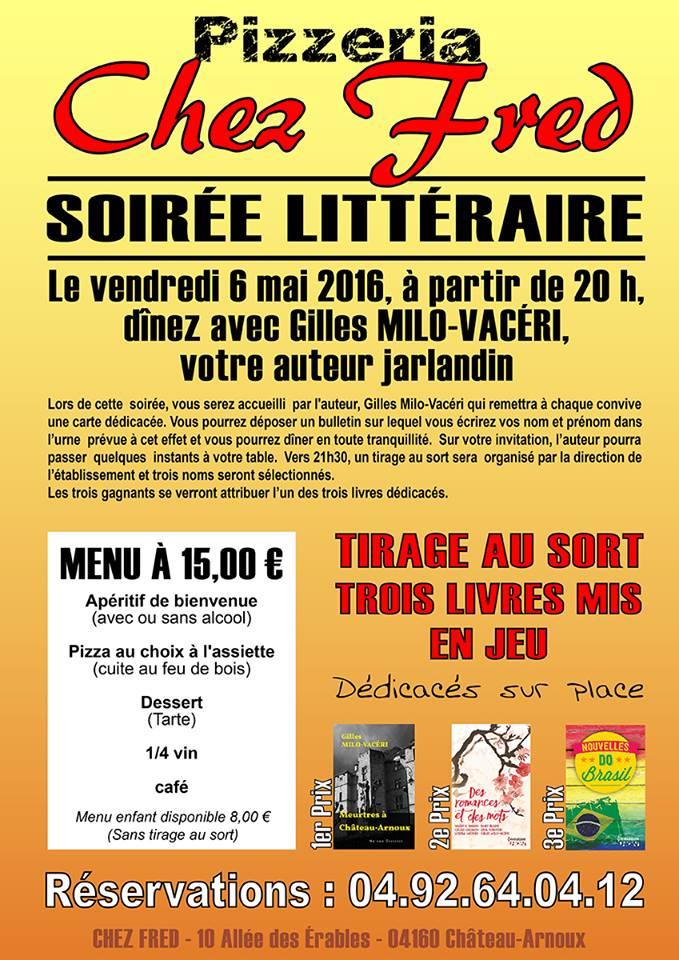 Soirée littéraire avec Gilles Milo-Vacéri