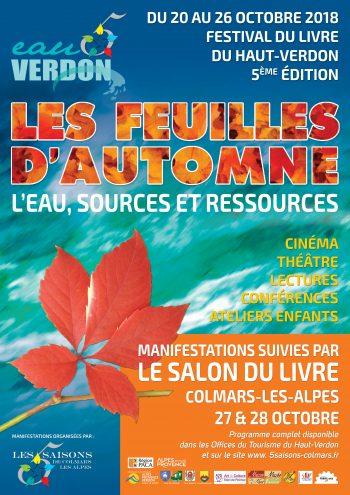 Les feuilles d'automne Festival du livre du Haut-Verdon se déroulera les samedi 27 et dimanche 28 octobre 2018 à Colmars-les-Alpes.