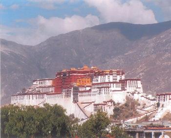 Potala à Lhassa Dans les pas d'Alexandra David-Néel