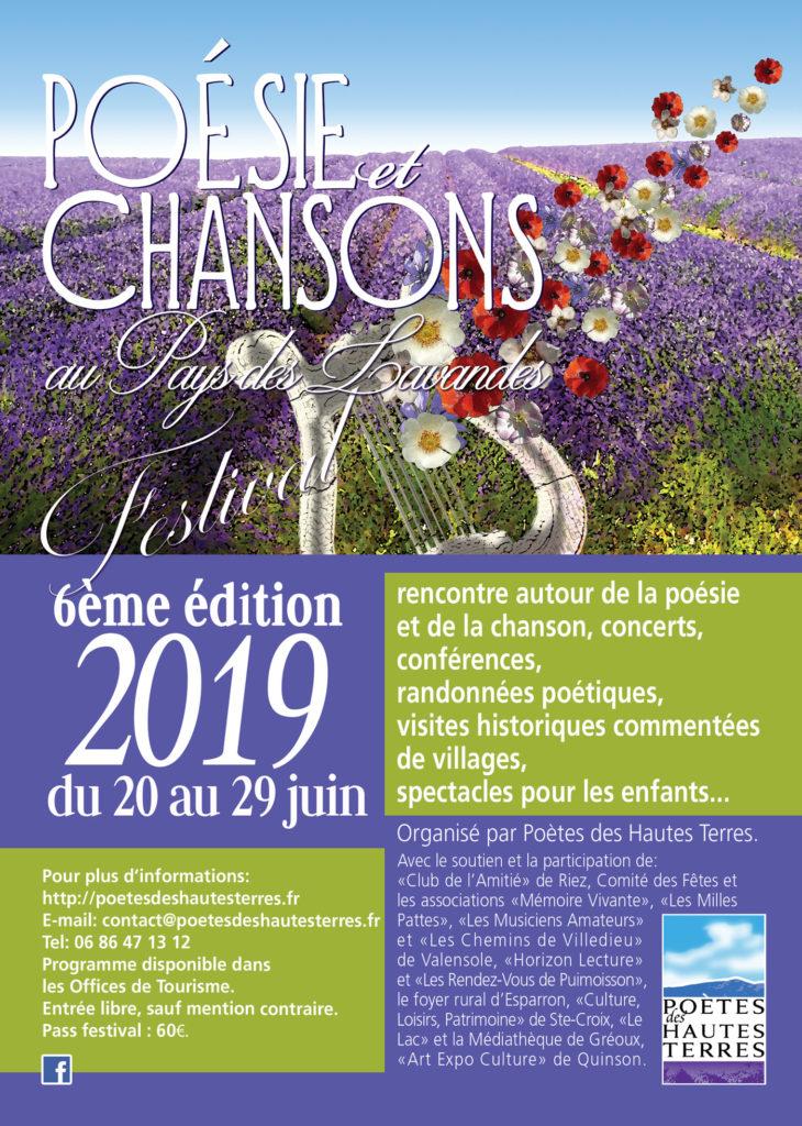 Festival Poésie et Chansons au Pays des Lavandes 2019