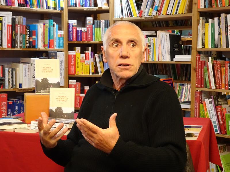 René Frégni en dédicaces à la librairie La Ruelle à Digne-les-Bains