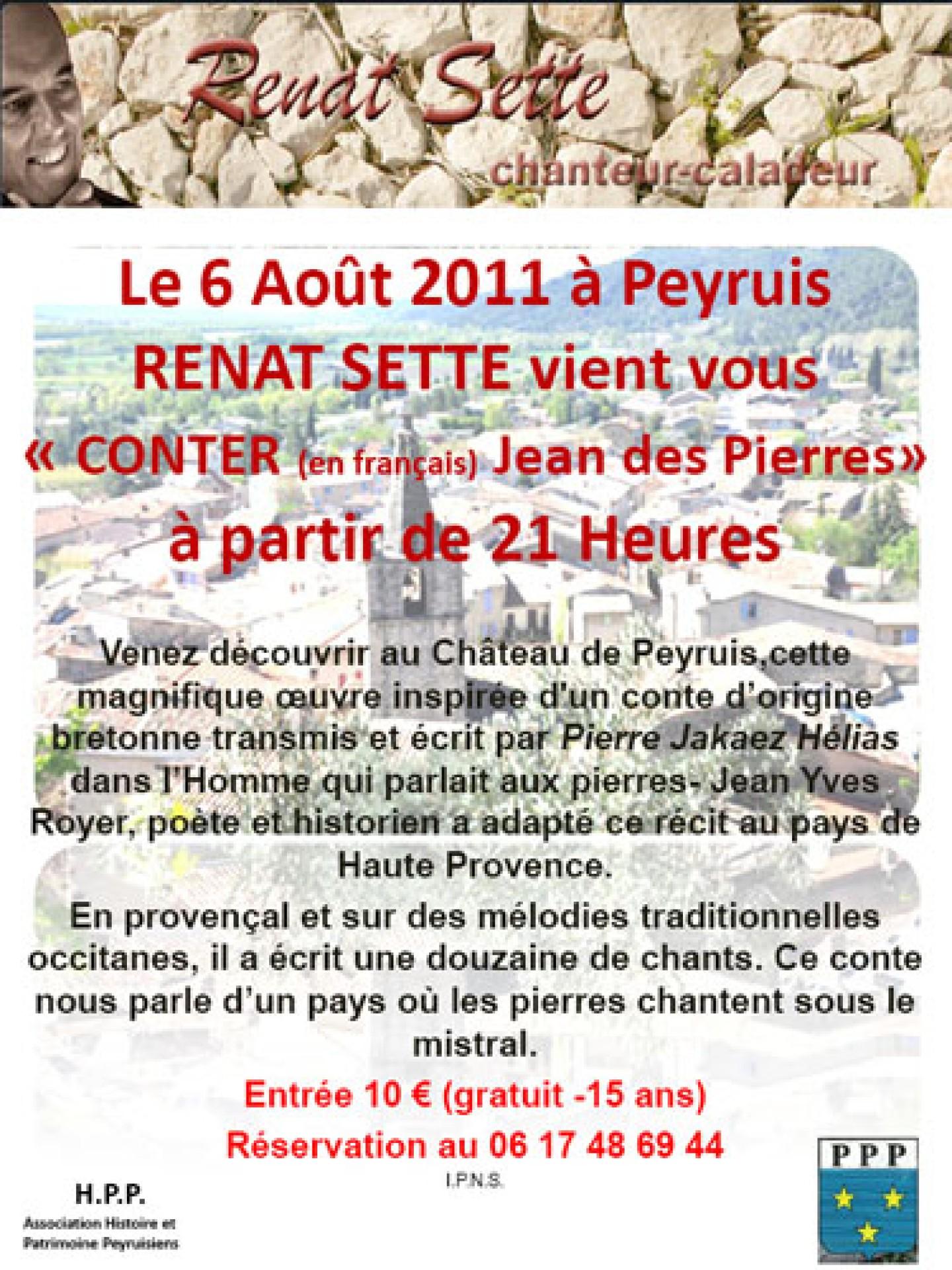 Affiche Renat Sette conte à Peyruis