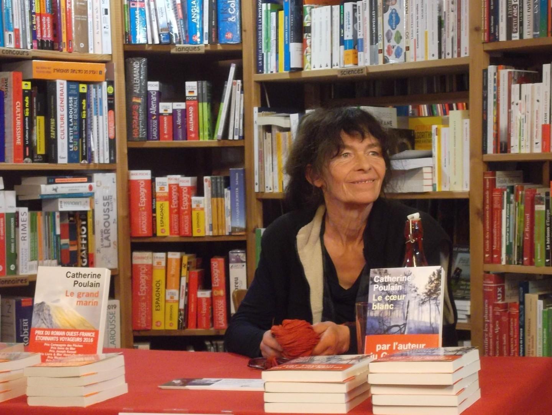 Catherine Poulain à la librairie La Ruelle à Digne les Bains