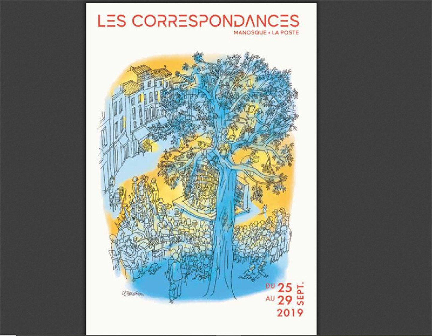 Les correspondances de Manosque 2019