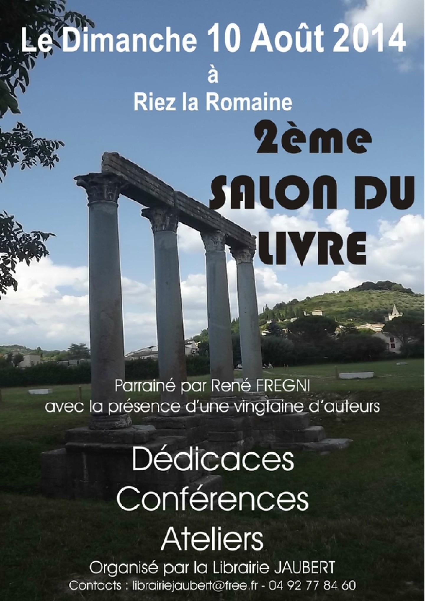 2ème Salon du livre de Riez-La-Romaine